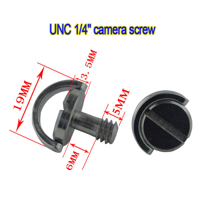 10pcs 1/4 Screw D-Ring camera screw For Camera Tripod Monopod Quick Release Plate Baseplate Rig QR