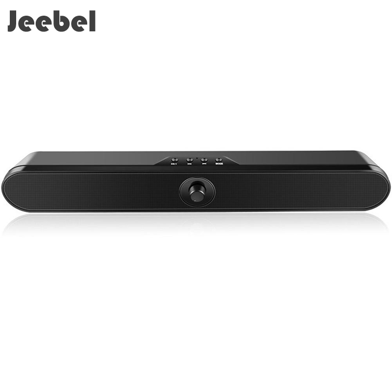 Jeebel Bluetooth Speaker LP-S11 Wireless Stereo Bass Sound Bar Handsfree FM Radio TF AUX Music Box Home TV Sound System Soundbar цена