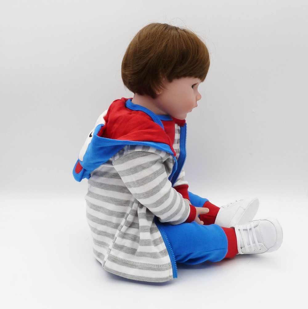 47cm realista reborn boneca do bebê macio silicone cheio realista boneca de brinquedo étnico para crianças aniversário presente natal
