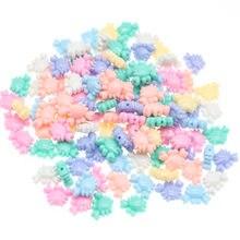 Chongai 100 pçs acrílico doces cores crab spacer grânulos para fazer jóias solta contas diy acessórios artesanais