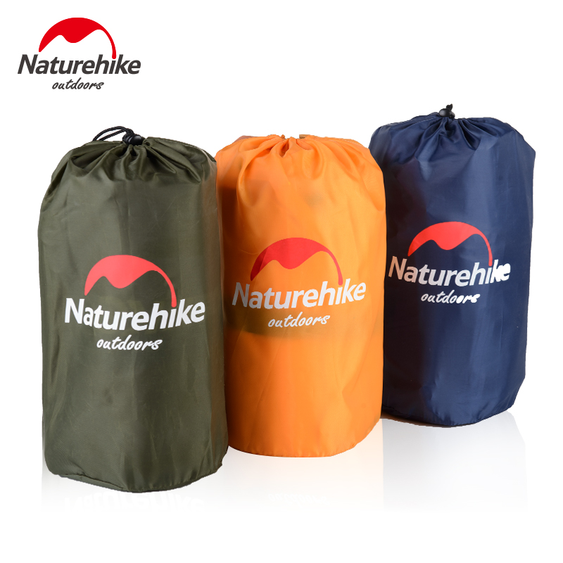 Naturehike Single 1 Inflatable Mattress Ultralight Camping Sponge Sleeping Pads Outdoor Moisture Proof Pad Picnic Can