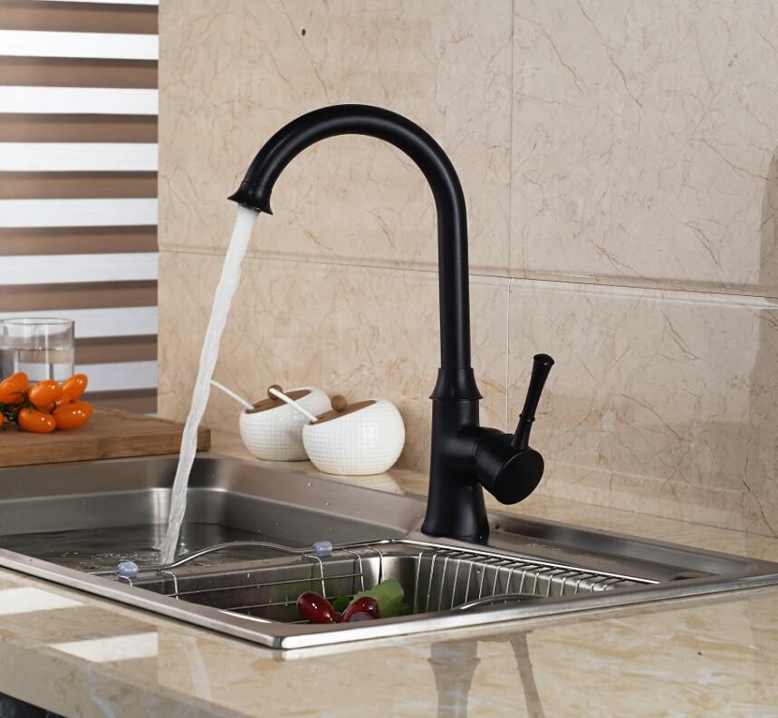 beautiful Bronze Kitchen Faucet #10: Luxury Oil Rubbed Bronze Kitchen Faucet Swivel Spout Vessel Sink Mixer Tap  Single Handle Hole(