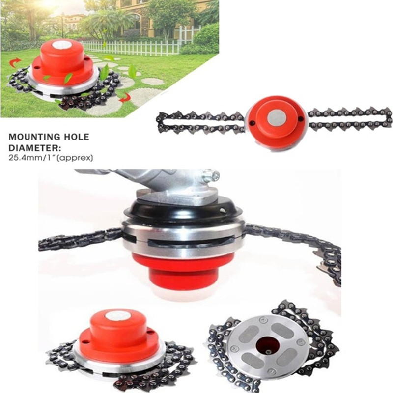 Universal Steel Grass Trimmer Head Chain Brush Cutter For Garden Grass Weed Cutter Tools Lawn Mower Spare Parts