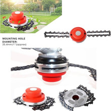 Universal Steel Grass Trimmer Head Chain Brush cutter for Garden Weed Cutter Tools Lawn Mower Spare Parts