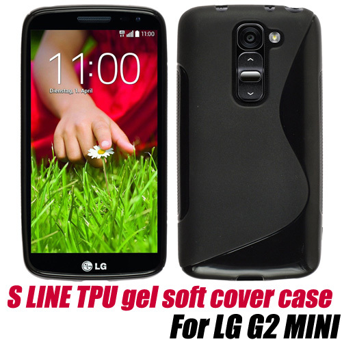 S Line TPU Gel Skin Cover soft Case for LG G2 MINI,Free Shipping
