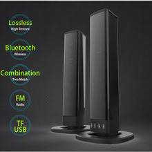 Bluetooth Speaker Elektrische Ondersteuning Tf kaart Pvc Sound Blaster Split Stereo Audio Opvouwbare Tv Outdoor Theater Soundbar Home