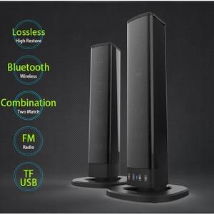 Image 1 - Bluetooth רמקול חשמלי תמיכה TF כרטיס PVC קול Blaster פיצול סטריאו אודיו מתקפל טלוויזיה חיצוני תיאטרון Soundbar בית