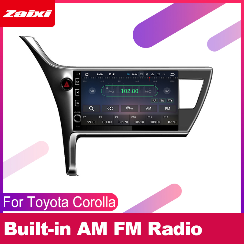 ZaiXi android car gps multimedia player For Toyota Corolla 2016 2018 car navigation radio video audio player Navi Map in Car Multimedia Player from Automobiles Motorcycles
