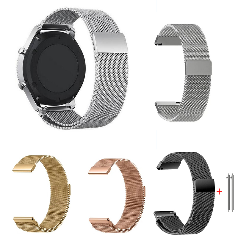 все цены на 20mm 22mm band huami amazfit bip lite pace Milanese Loop for Samsung Gear S3 Frontier Classic watch strap for gear sport S2 онлайн