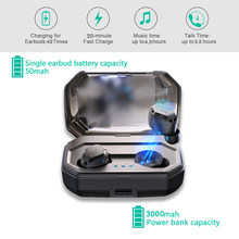 Mini Binaural TWS wireless Bluetooth 5.0 Earbuds Touch IPX6 Waterproof Bass Bluetooth Earphones With Charging Box/Phone Charging(China)