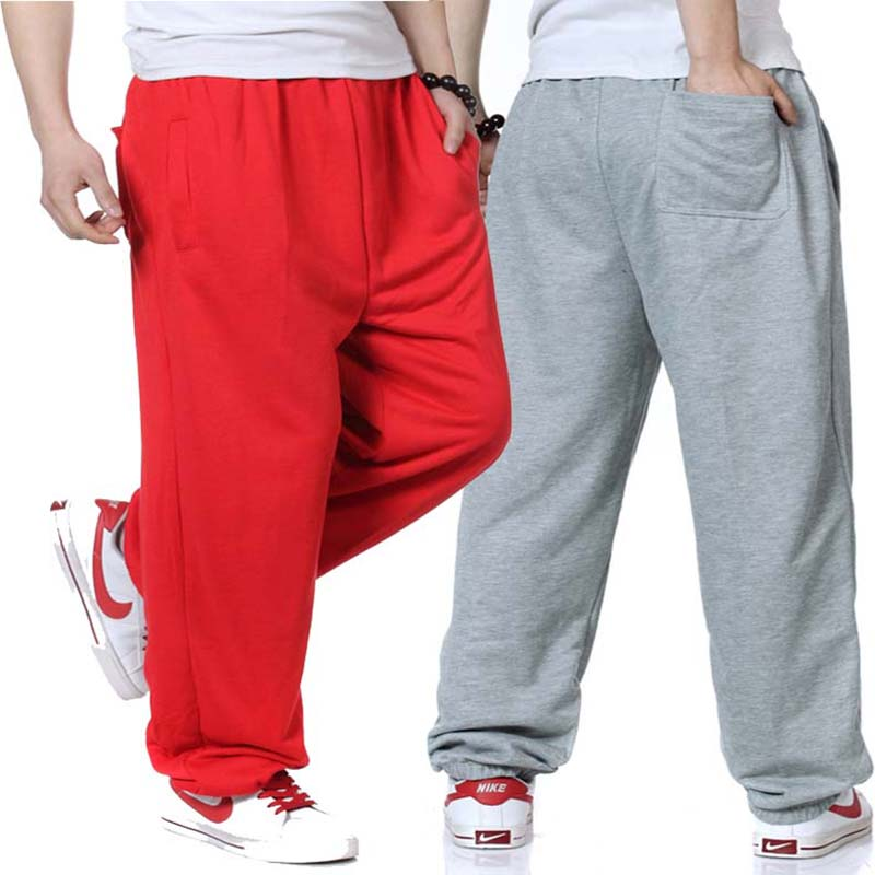 New Fashion Sweat Pants Hip Hop Men Joggers Track Pants Fromal Dress Casual Loose Baggy Cotton Trousers Male Clothes Sweatpants image