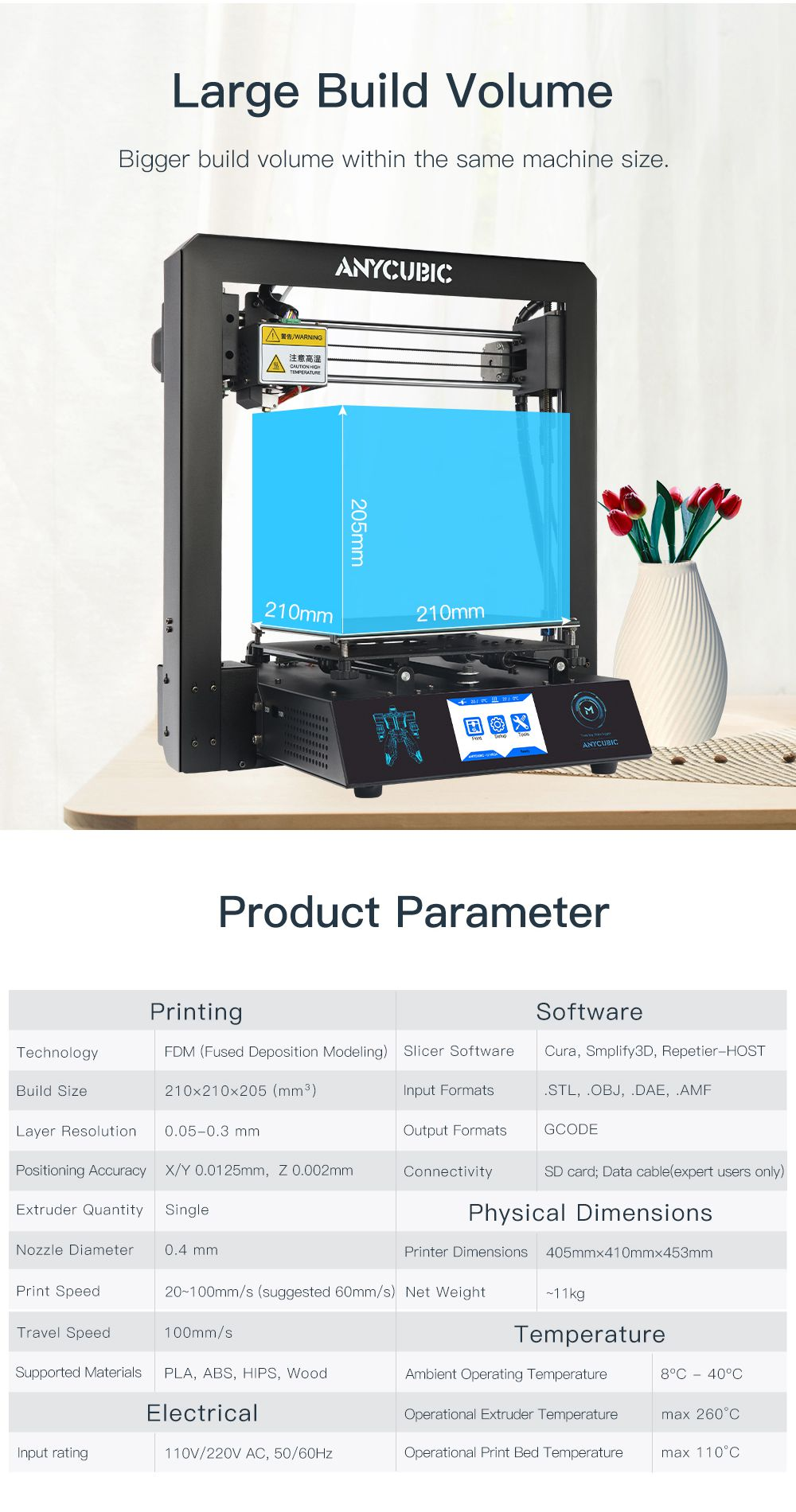 Free Shipping ANYCUBIC I3 Mega 3D Printer Kit Large Printing Plus Size Full Metal Frame 3D Drucker Impresora