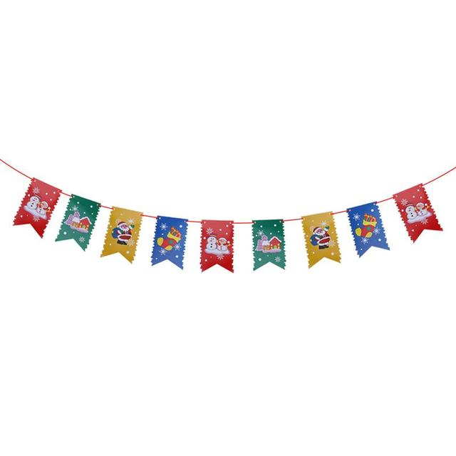 2 8m merry christmas banner 8 flag paper banners for christmas