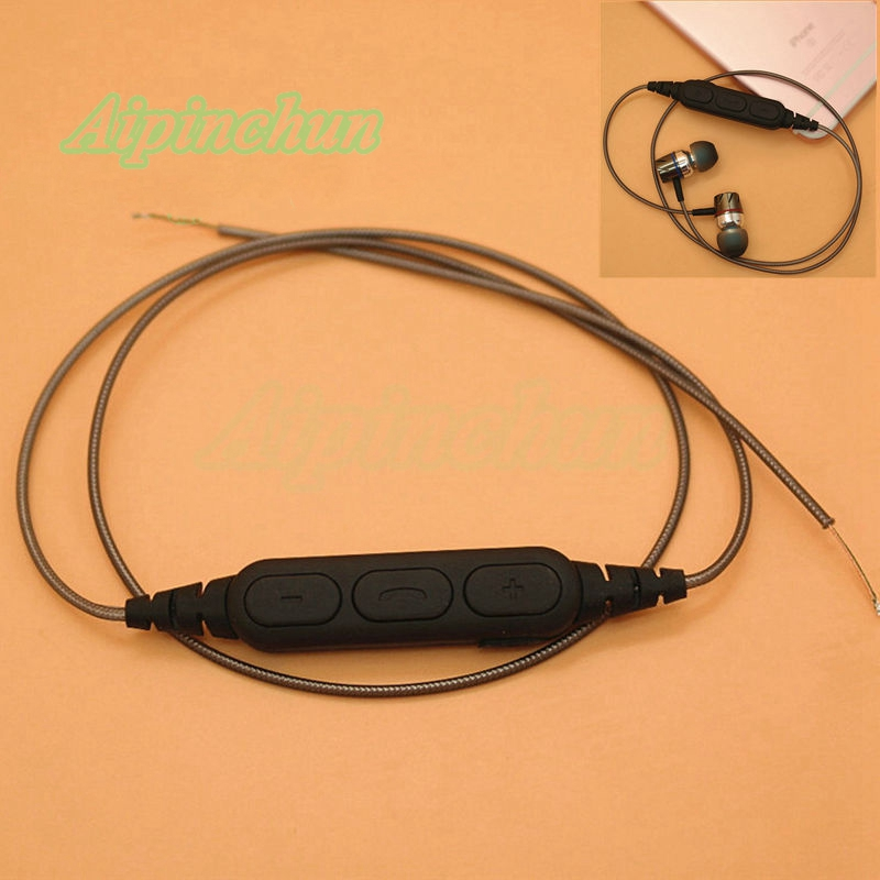 aipinchun diy earphone audio cable repair replacement headphone wire with microphone bluetooth. Black Bedroom Furniture Sets. Home Design Ideas