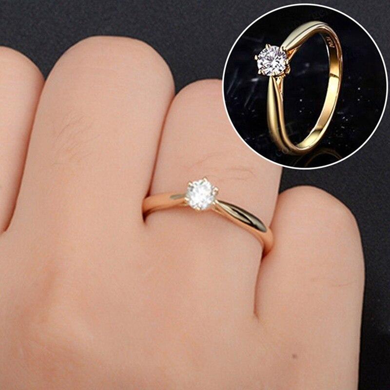 Hochzeit Ring Weiß Gold/Gold/Rose Gold Österreich Kristall Zirkon Ring Weihnachten Geschenk Für Frauen Hochzeit Schmuck Ringe großhandel|Eheringe| - AliExpress