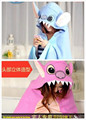 Cute Cartoon Anime Blue/Pink Stitch Hooded Blanket Adult Girl Boy Women Men Polar Fleece Plush Cloak Shawl Cape Wrap
