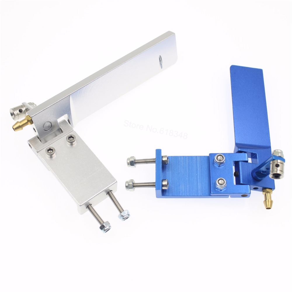 Aluminum 75mm  95mm Long Rudder With Water Pickup Absorbing Steering Cooling for Electric Gas Remote Control RC Boat Parts CNC aluminum alloy 160 single rudder length 90mm height 160mm with long double water pickups for 26cc boat
