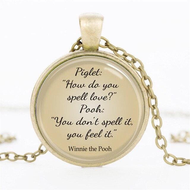 2017 vintage quote necklaces pendants inspirational jewelry classic 2017 vintage quote necklaces pendants inspirational jewelry classic pooh chocker aloadofball Images