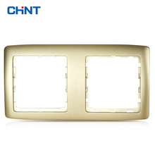 CHINT Electrician NEW2K Luxurious Switch Socket Light Champagne Golden Chinese Style European Respectable Plate A