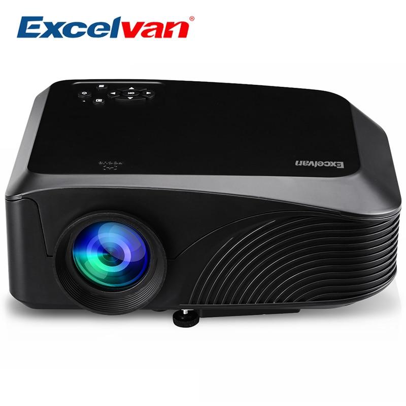 Excelvan LED4018 Portable 1200 Lumen 800*480 Max 1080 P 130 pouces rouge-bleu 3D avec HDMI USB VGA AV TF Interface Home cinéma