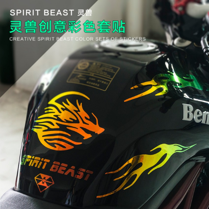 Geist Beast Motorrad Modifiziert Körper Teufel Feuer Styling