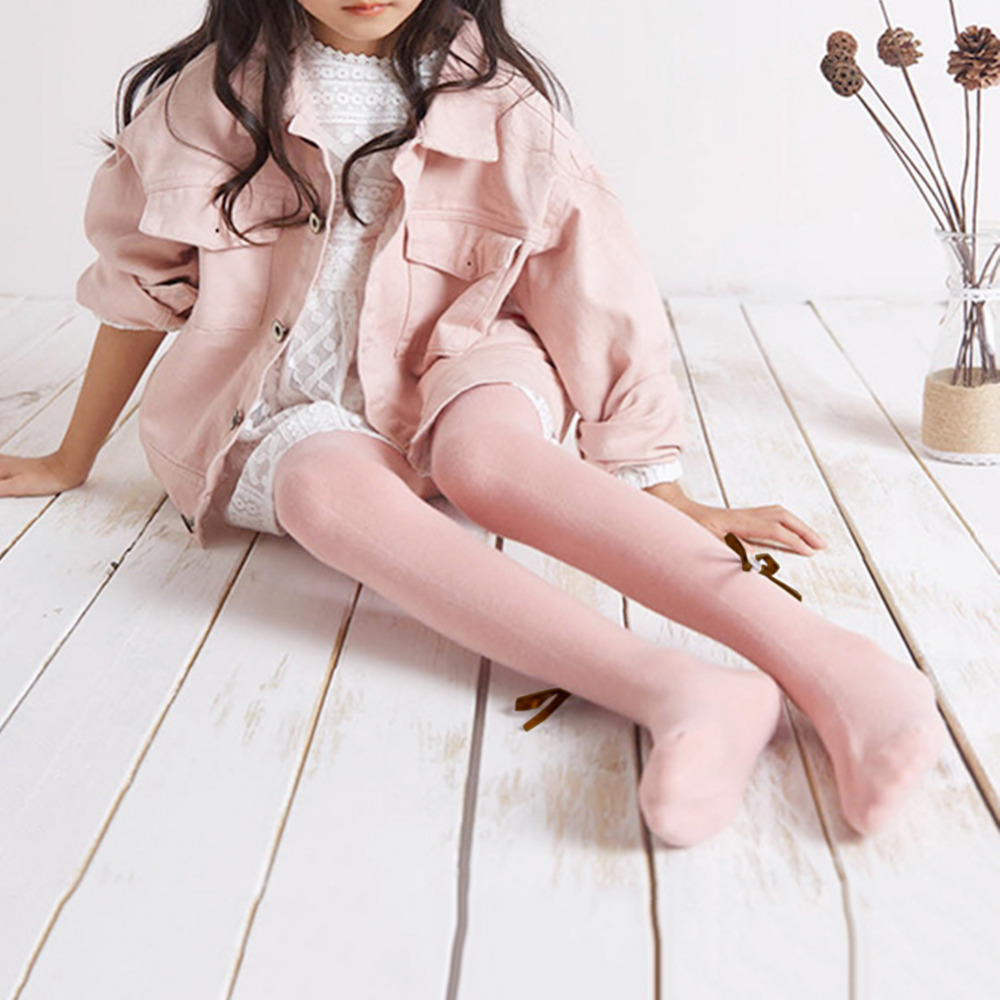 236e9289d4954 Baby Girls Pure Cotton Bow Tie Stocking Children Warm Pantyhose White Pink  Leggings Wear in Autumn for Babies Girls 1 6 Years-in Tights & Stockings  from ...