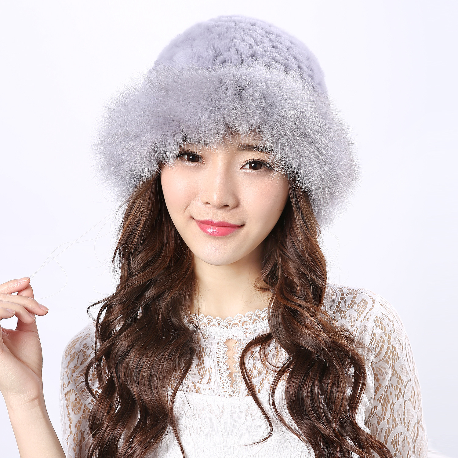 17 new autumn and winter fur of Rex rabbit hair Princess Hat Lady Korean fashion warm color thick ski cap princess hat skullies new winter warm hat wool leather hat rabbit hair hat fashion cap fpc018