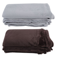 Textiles Para El hogar Anti-Pilling Tela Escocesa Sólida Aire/Sofá/Camas Lanza Sábana Invierno Manta de Franela Caliente Suave 150*200 cm Hot New