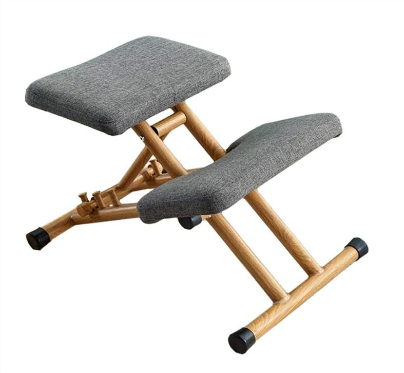 Modern Metal Kneeling Chairs Ergonomic Adjustable Kneel Stool for Home and Office Correct Posture Computer Desk Chair Thick Seat