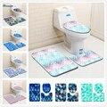 3 шт.  3D коврики для ванной комнаты  нескользящий коврик  крышка для унитаза  коврик для ванной  набор  принт  цветные рыбьи чешуи  принт  Декор ...