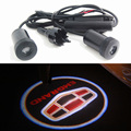 2 pieces LED Car Door Welcome Light Laser Car Door Shadow led Projector Logo fit Geely emgrand EC7