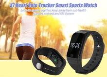 Новый Smart Браслет X7 Часы Heart Rate Мониторы удаленного Bluetooth Smart Браслет Шагомер Фитнес SmartBand напоминание 80 мАч