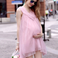 2016 Summer New Maternity Dresses Sleeveless Chiffon Princess Paragraph Clothes For Pregnant Women Fashion Sexy Pregnancy Dress