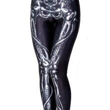 Леггинсы женские эластичные для фитнеса повседневные с принтом