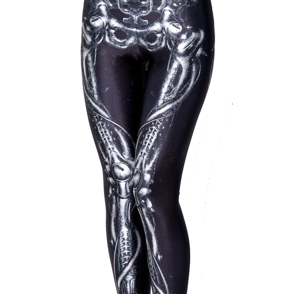 e89271ffb1587 Detail Feedback Questions about S To 4xL Elastic Fitness Women Halloween  Casual Leggings Black White Skeleton Print Plus Size Workout Leggins For  Girls on ...