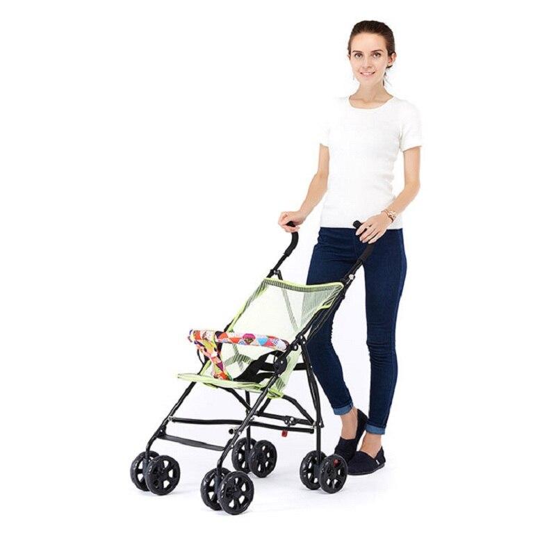Sozzy Горячая продажа переносная, для прогулок с малышом ручной складной зонтик автомобиля складной простой складной детский четырехколесная тележка - 2