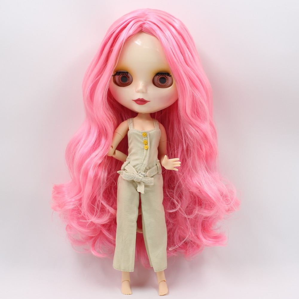ICY factory blyth doll bjd neo 1003/898 pink mix wavy Hair centra parting joint body Toy gift 1/6 30cm adiors long middle parting shaggy wavy color mix synthetic party wig
