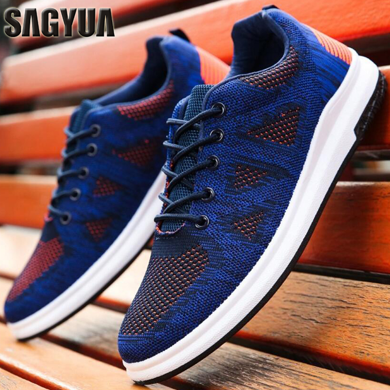 SAGYUA Newest Men Hombre Male Casual Fashion Summer Knitting Air Mesh Travels Walking Za ...