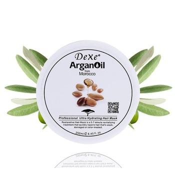 цена DEXE argan oil moisturizing professional dry damaged hair repair treatment nutrition hair mask Hair Scalp Treatment Repair Cream онлайн в 2017 году