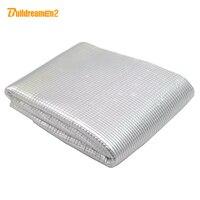 50cmx100cm 18 X40 Sound Heat Insulation Cotton Noise Control Deadener Aluminum Foil Material For Car