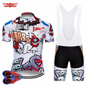 Image 1 - Crossrider 2020 Funny Cycling Short Jersey 9D bib Set MTB Bike Clothing Breathable Bicycle wear Mens Maillot Culotte