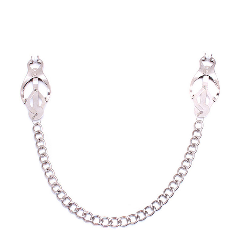 Belsiang Breast Nipple Clamps With Chain Female Nipple Clamps Clips Stainless For Men Bdsm Bondage Sex Toys For Couples Erotic Quality First Beauty & Health Sm Products