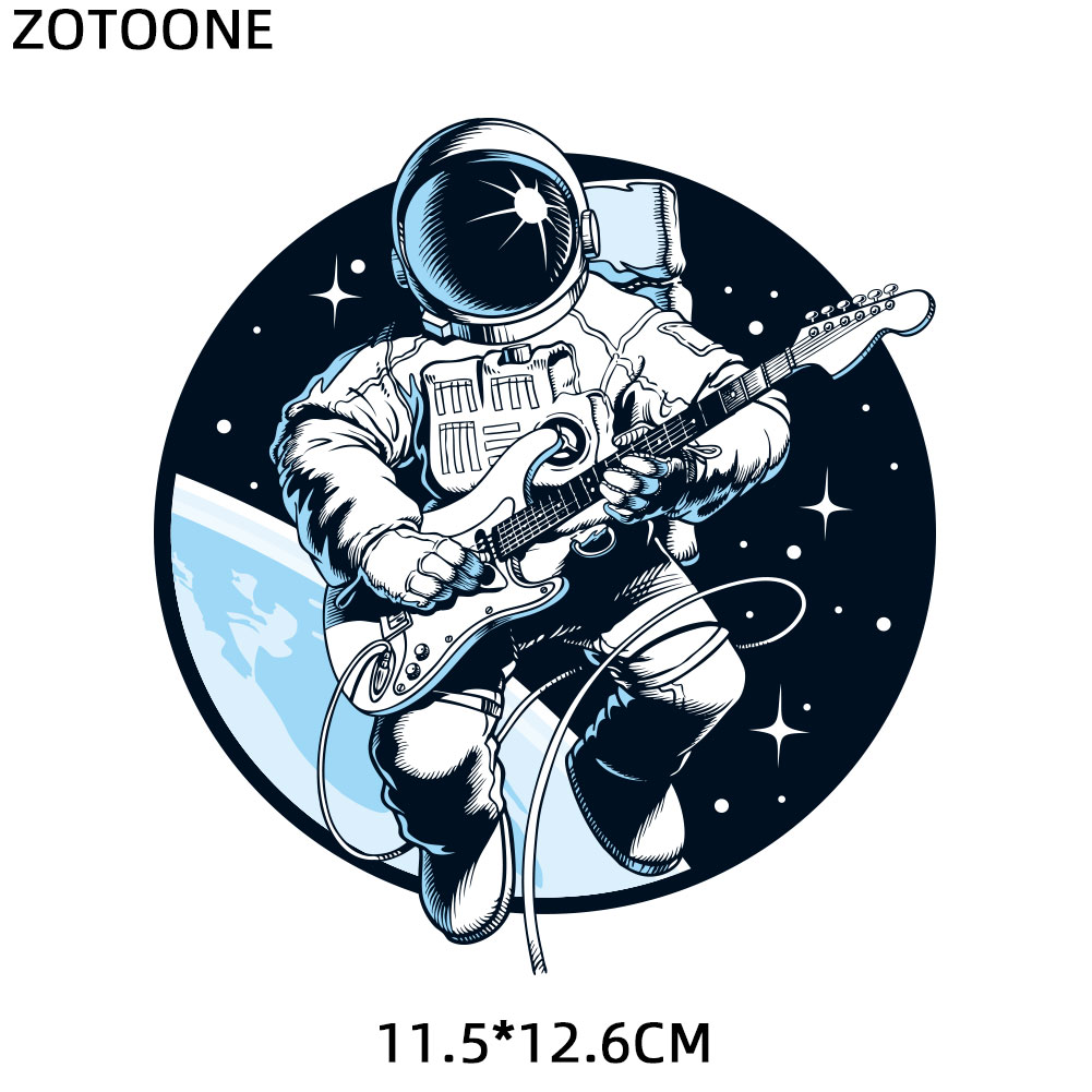 ZOTOONE Space Heat Transfer Patches for Clothing Printed DIY Iron on Letter UFO Planet Patch for Kids T shirt Applique Vinyl G in Patches from Home Garden