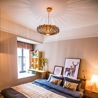 Династия современного искусства деревянные подвесные светильники в японском стиле Азии деревянные, подвесные лампы для столовой комнаты р