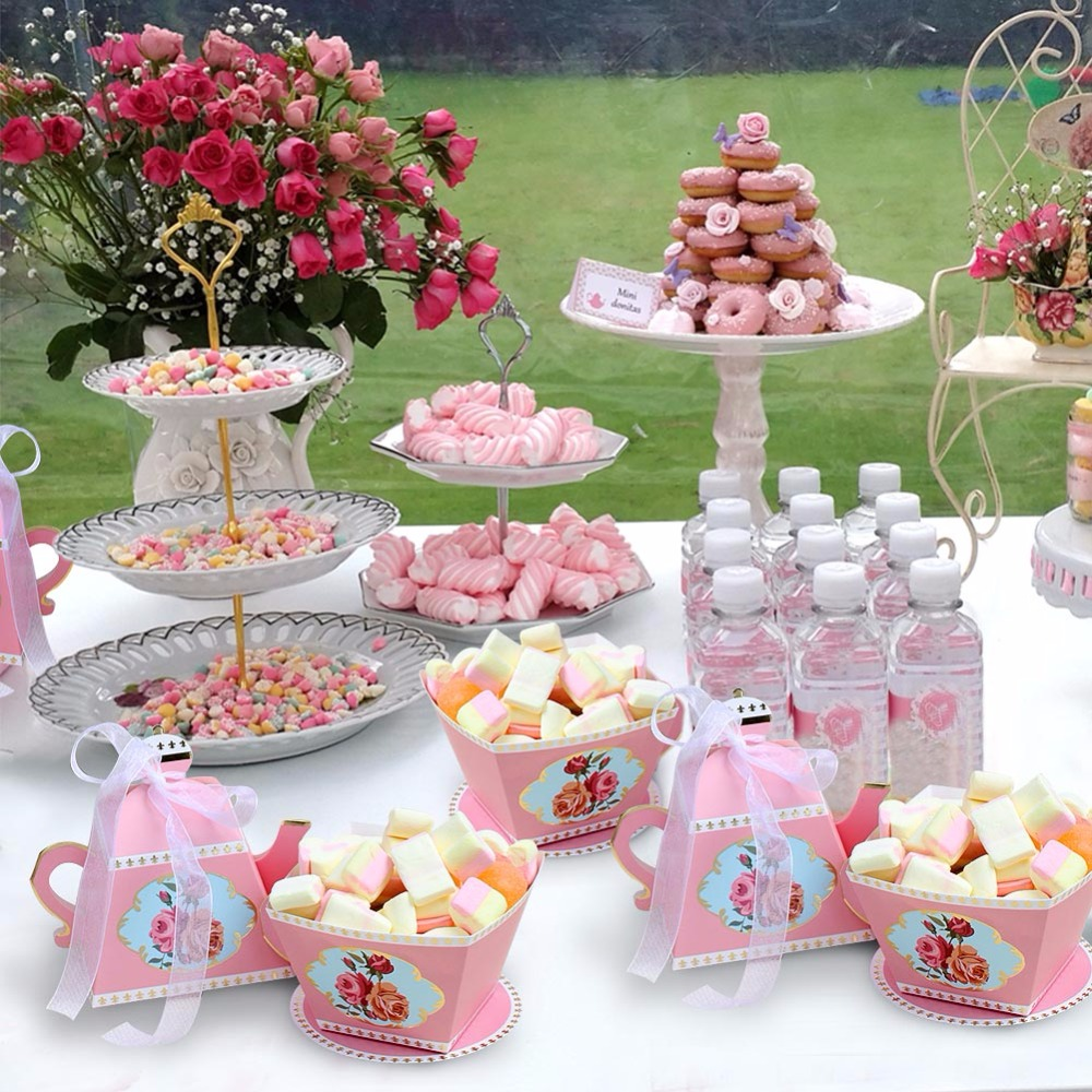 Ourwarm 10pcs Candy Boxes Tea Party Favors Wedding Gifts For Guests