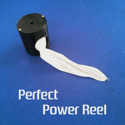 Perfect Power Reel Flesh Black Available Magic Tricks Silk Flying Device Stage Street Magician Props Accessories