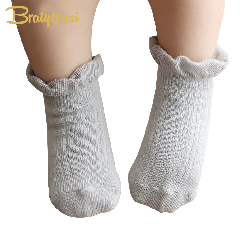 Lovely Cotton Newborn Socks Cotton Ankle Length Ruffles Infant Socks Baby Calcetines For 0-4 Years 1 Pair