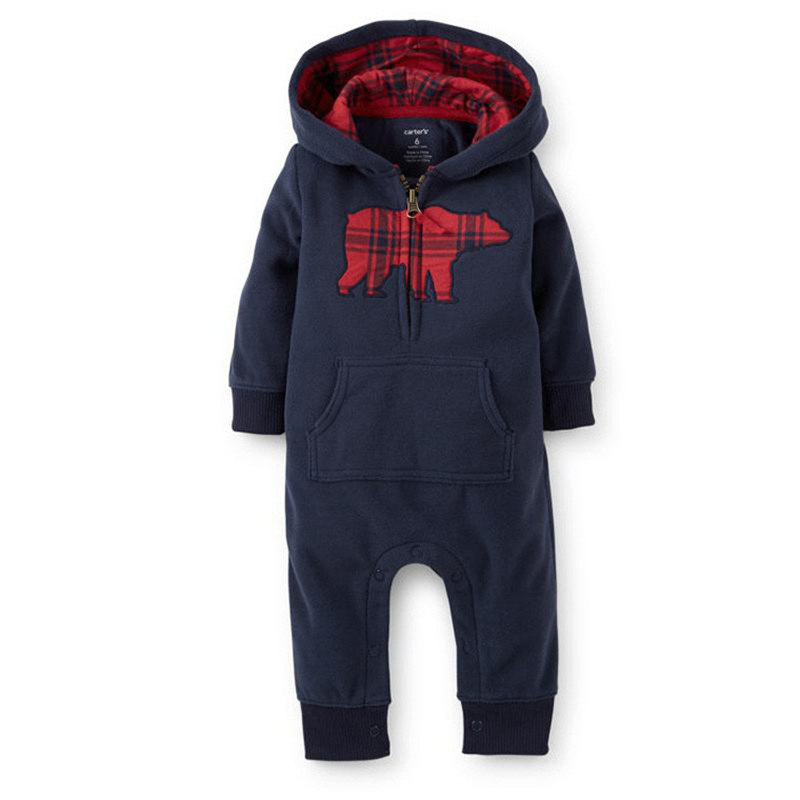 4cad453c876 Buy Baby Rompers Newborn Hooded Clothes Infant Hoodies Boys Romper for  Winter Toddler Kids Clothing roupa infantil menino cheap Cheap Online