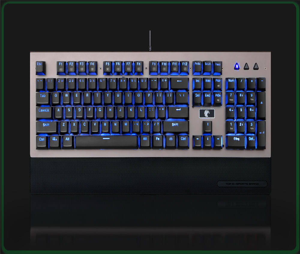 HUO JI 104 Keys USB Gaming Keyboard with LED Backlit Gaming Keyboard for PC desktop huo ji 104 keys usb gaming keyboard with led backlit gaming keyboard for pc desktop