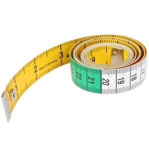 Image 4 - 1pcs 60in 단추 재단사 측정 테이프 바느질 도구 플랫 테이프 150cm 바디 측정 도구
